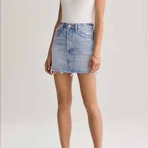 Agolde Quinn High Rise Mini Skirt